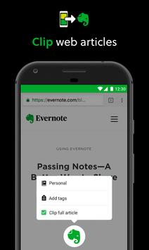 Evernote capture d'écran 3