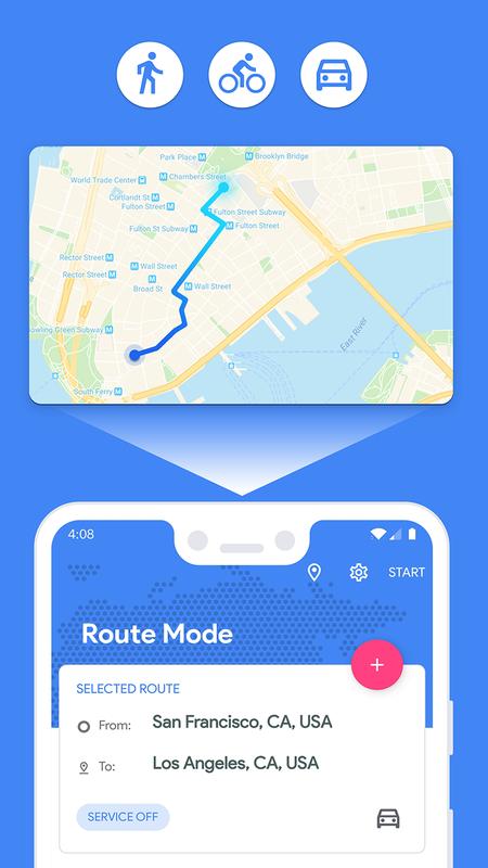 Fake GPS Location cho Android - Tải về APK