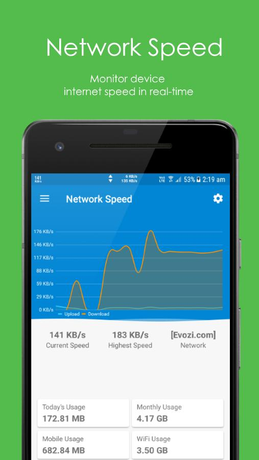 Speed Indicator - Network Speed - Monitoring Meter for Android - APK