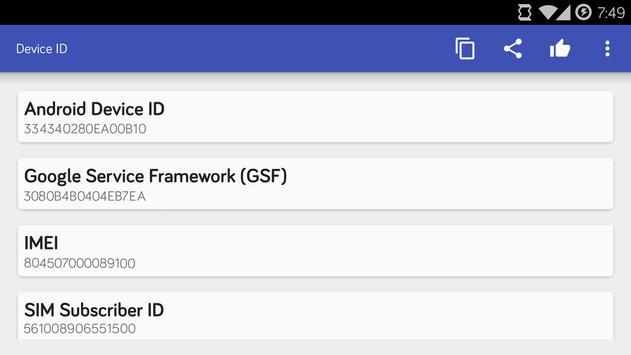 Device ID syot layar 3
