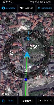 GPS Compass Navigator скриншот 1