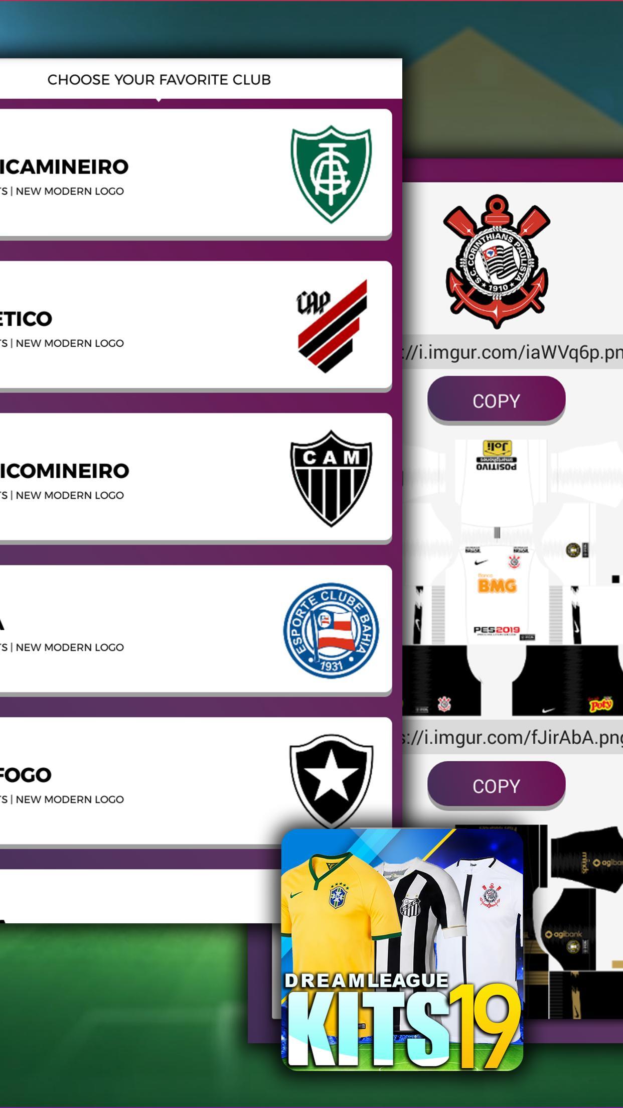 Dream League Brasileiro kits soccer Brazil for Android - APK