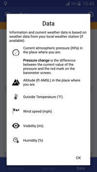 Barómetro y Altímetro y Termómetro captura de pantalla 5