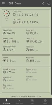 GPS البيانات تصوير الشاشة 1