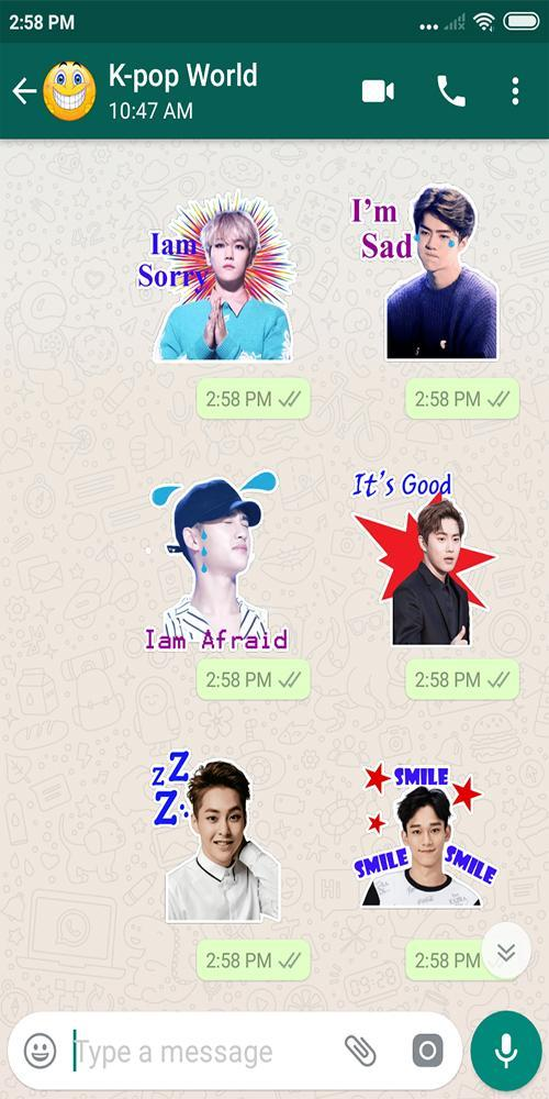 Exo 엑소 Kpop Meme Whatsapp Stickers Wastickerapps For Android