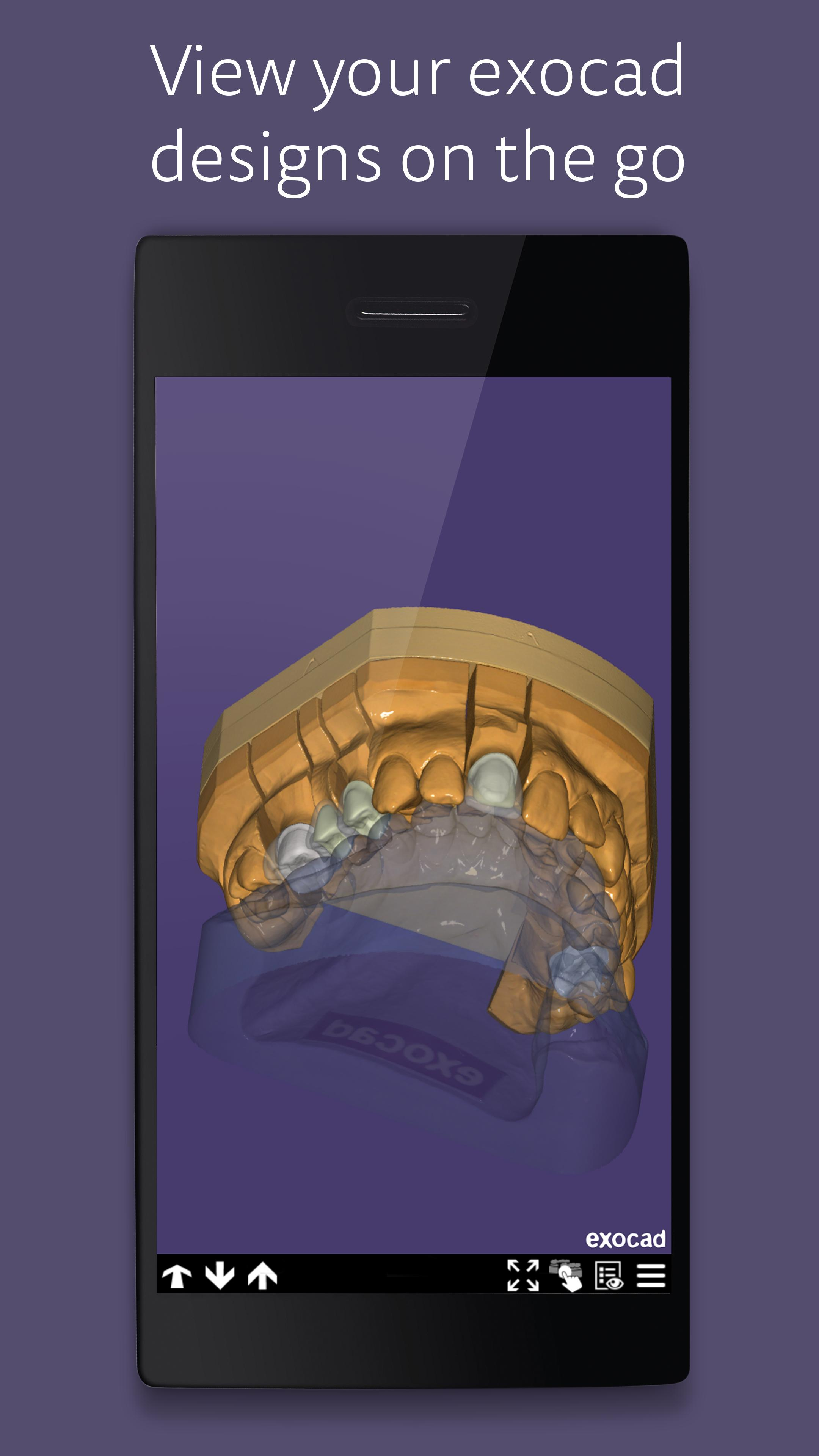 exocad view - Free STL OBJ and 3D Model Viewer for Android