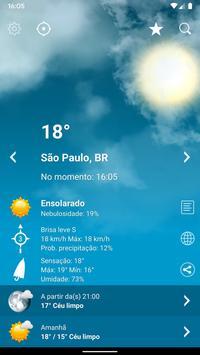 Tempo Previsão Clima XL Brasil Cartaz