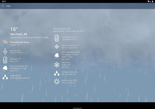 Tempo Previsão Clima XL Brasil imagem de tela 9