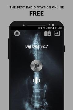 Big Dog 92.7 Radio App Canada FM CA Free Online poster