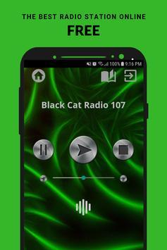 Black Cat Radio 107 App FM UK Free Online poster