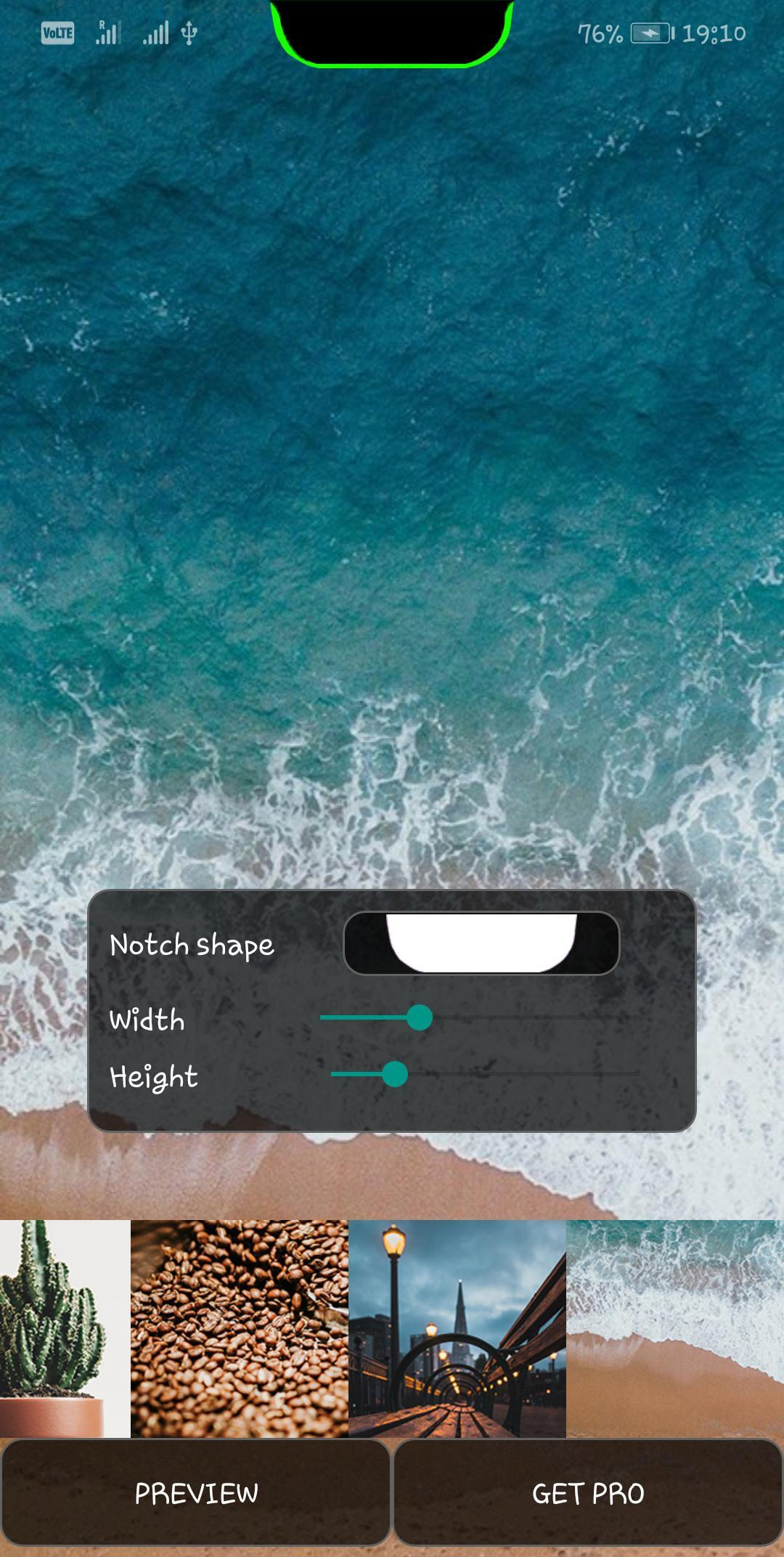 Notch & S10 Battery bar trial - Live wallpaper for Android
