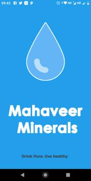 Mahaveer Minerals - A Water Delivery App poster