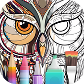 Coloring Book for family icon