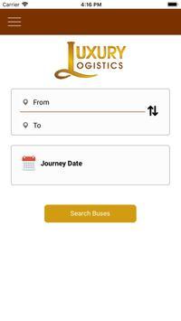 Luxury Logistics - Online Bus Tickets Booking screenshot 1