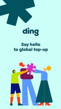 Ding 선불요금 충전: 휴대전화 충전 포스터