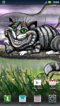 Cheshire Cat Live Wallpaper poster