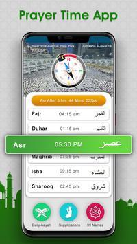 Tempos de Oração: salah time & qibla Direction imagem de tela 1