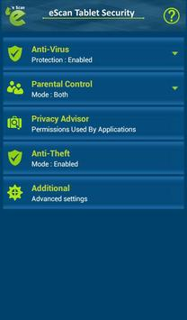 eScan Tablet Security poster