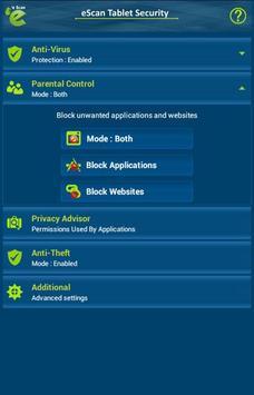 eScan Tablet Security screenshot 14