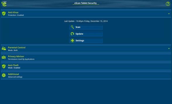 eScan Tablet Security screenshot 7