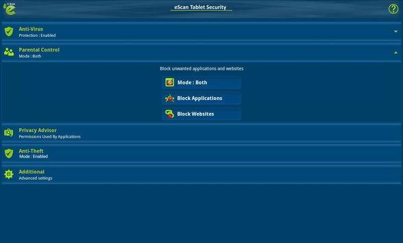 eScan Tablet Security screenshot 8