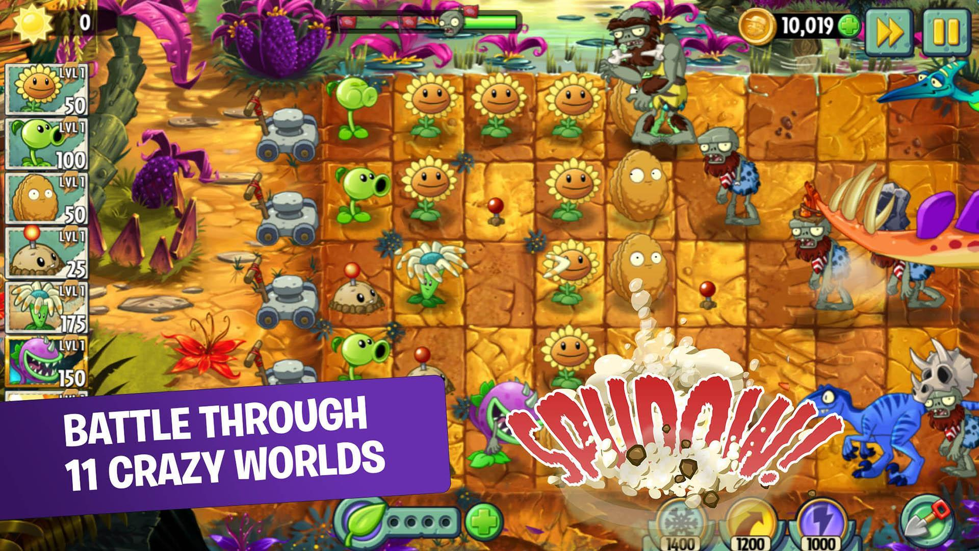 Plants Vs Zombies 2 Free For Android Apk Download