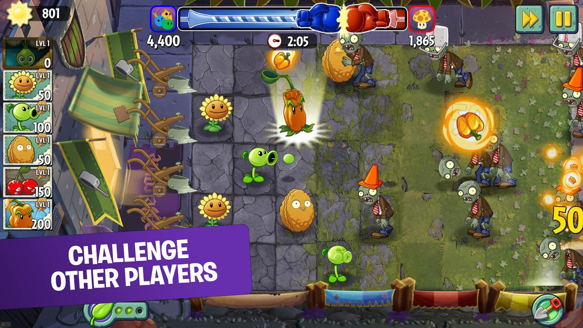 plants vs zombies 2 free download games