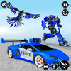 Police Eagle Robot Transformation icon