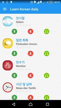 Belajar bahasa Korea harian penulis hantaran