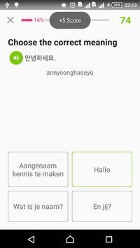 Learn Korean dagelijks - Awabe screenshot 7