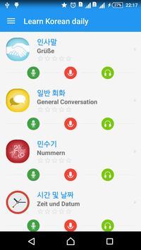 Learn Korean täglich - Awabe Plakat