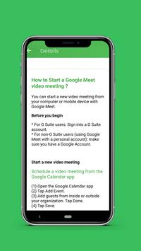 Guide for Google meet Video Conferences meeting screenshot 6