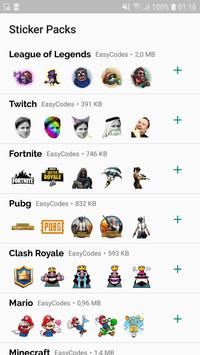 WAStickerApps - Games stickers for Whatsapp ポスター