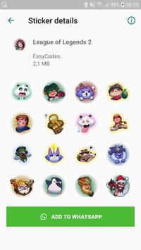 League stickers for WhatsApp - WAStickerApps screenshot 2