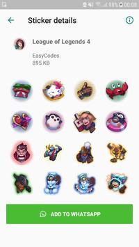 League stickers for WhatsApp - WAStickerApps screenshot 4