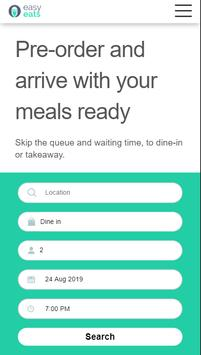 EasyEats: pre-order & arrive with your meals ready screenshot 1