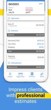 Free Invoice Maker: Estimates & Bill Creator स्क्रीनशॉट 2