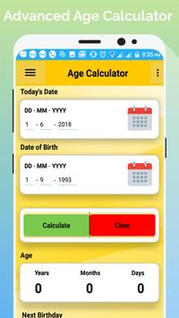 Age Calculator By Birth Date (No Internet  Needed) poster