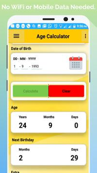 Age Calculator By Birth Date (No Internet  Needed) screenshot 2