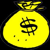 Gold coin money icon