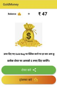 Gold coin money poster