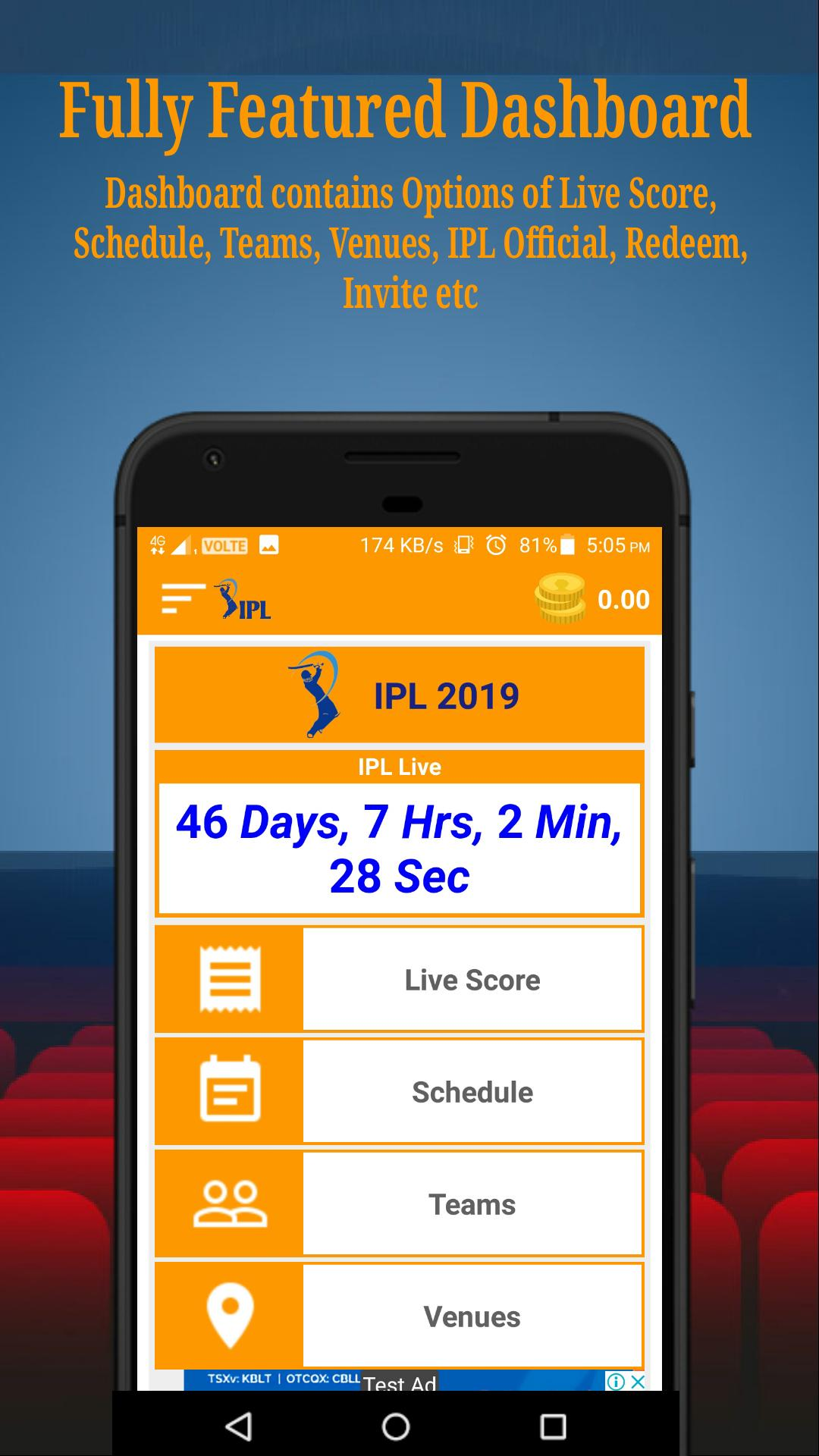 IPL 2019 + Earn Money, Live Scores, Time Table etc for