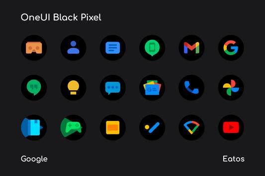 OneUI 3 Black - Round Icon Pack captura de pantalla 7