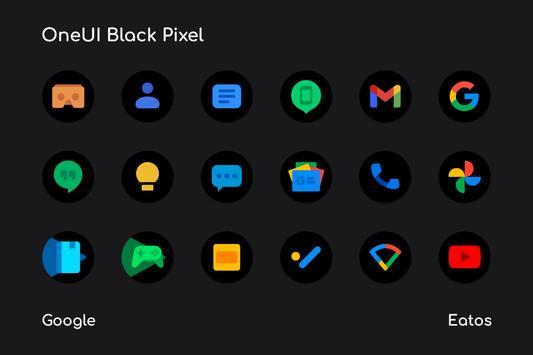 OneUI 3 Black - Round Icon Pack captura de pantalla 1