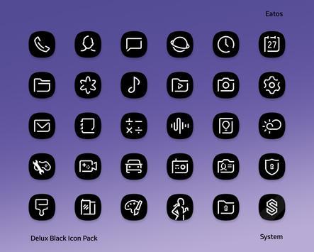 Delux Black - Icon Pack Ekran Görüntüsü 6