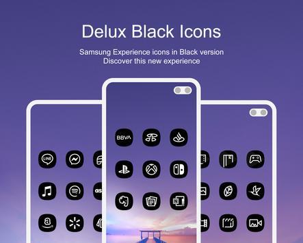 Delux Black - Icon Pack Ekran Görüntüsü 10