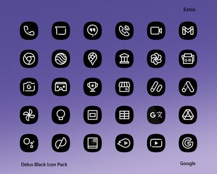Delux Black - Icon Pack Ekran Görüntüsü 12