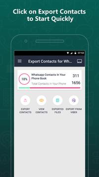 Export Contacts For WhatsApp poster