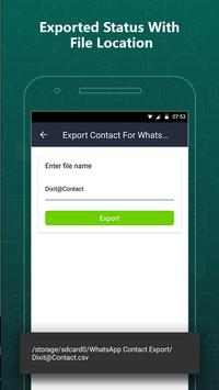 Export Contacts For WhatsApp screenshot 5