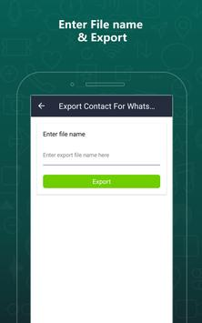 Export Contacts For WhatsApp screenshot 8